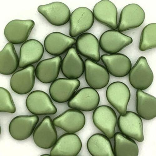 Pip Beads, Olivine (7 x 5mm) (Qty. 35)
