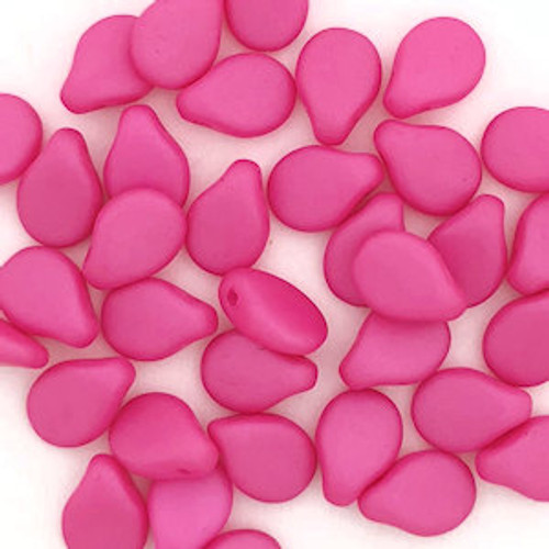 Pip Beads, Hot Pink (7 x 5mm) (Qty. 35)