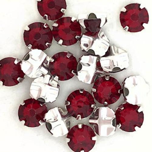30ss Swarovski Rose Montees - Siam (Qty: 20)