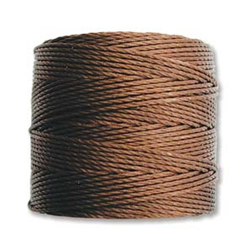 S-Lon Bead Cord, Brown (TEX 210, Medium Weight) (77 yd)