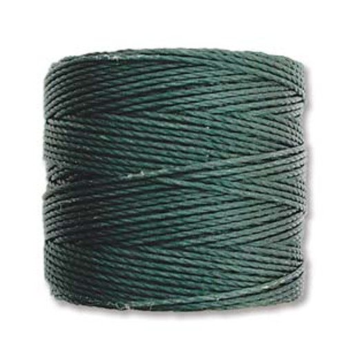 S-Lon Bead Cord, Evergreen (TEX 210, Medium Weight) (77 yd)