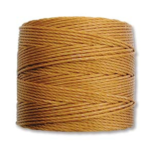 S-Lon Bead Cord, Gold (TEX 210, Medium Weight) (77 yd)