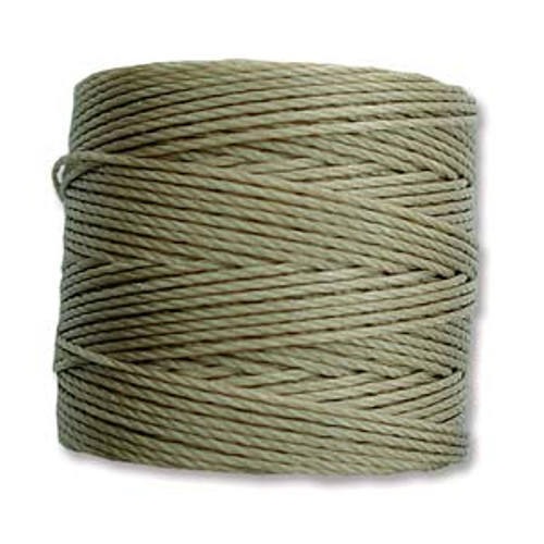 S-Lon Bead Cord, Khaki (TEX 210, Medium Weight) (77 yd)