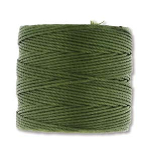 S-Lon Bead Cord, Olivine (TEX 210, Medium Weight) (77 yd)