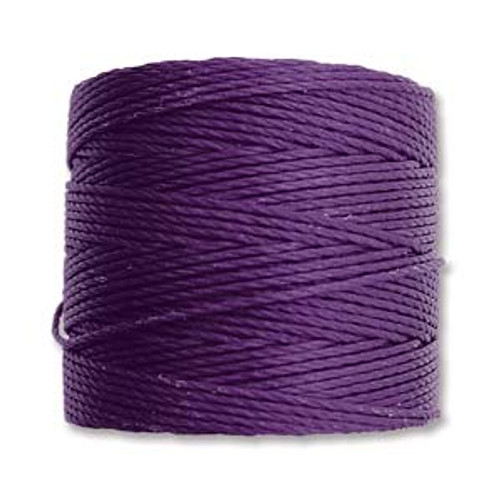 S-Lon Bead Cord, Purple (TEX 210, Medium Weight) (77 yd)