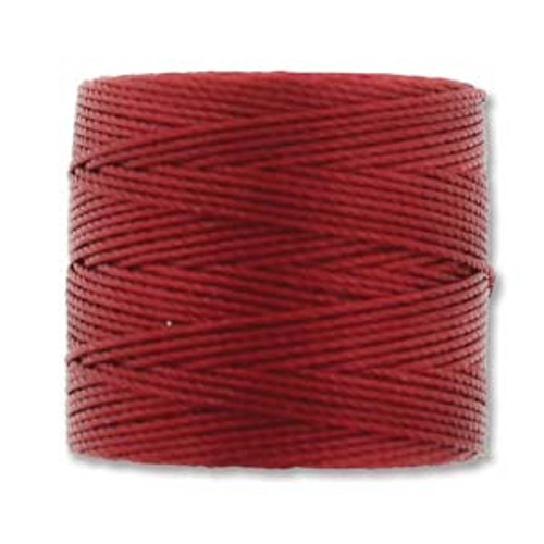 S-Lon Bead Cord, Red Hot (TEX 210, Medium Weight) (77 yd)