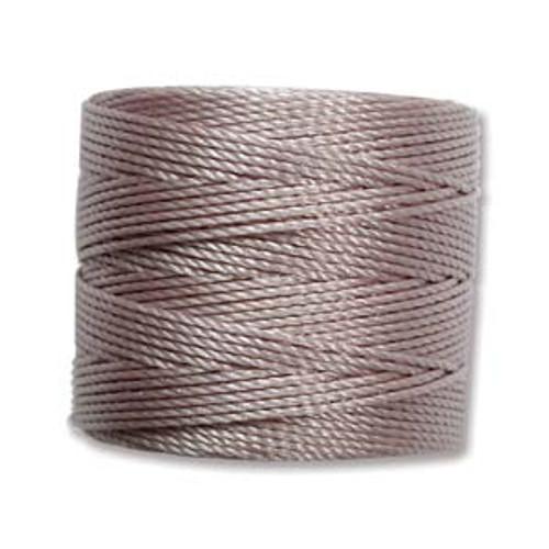 S-Lon Bead Cord, Silver (TEX 210, Medium Weight) (77 yd)