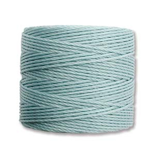 S-Lon Bead Cord, Turquoise (TEX 210, Medium Weight) (77 yd)