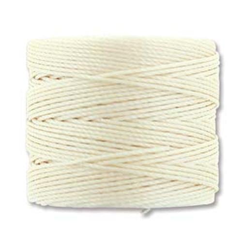 S-Lon Bead Cord, Vanilla (TEX 210, Medium Weight) (77 yd)