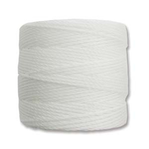 S-Lon Bead Cord, White (TEX 210, Medium Weight) (77 yd)