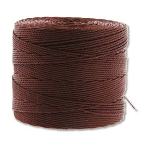 S-Lon Bead Cord, Brown (TEX 135, Fine Weight) (118 yd)