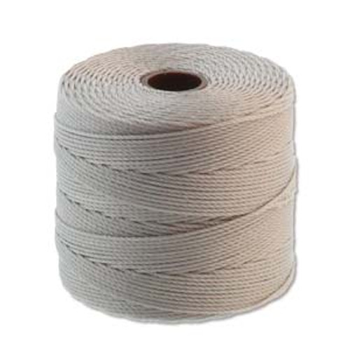 S-Lon Bead Cord, Silver  (TEX 135, Fine Weight) (118 yd)