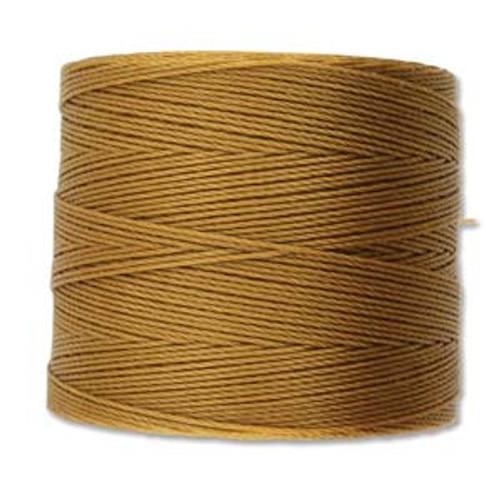S-Lon Bead Cord, Gold  (TEX 70, Micro Weight) (262 yd)