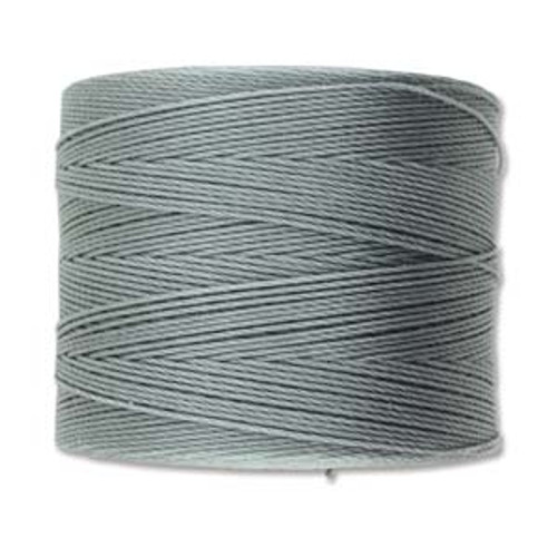 S-Lon Bead Cord, Grey  (TEX 70, Micro Weight) (262 yd)