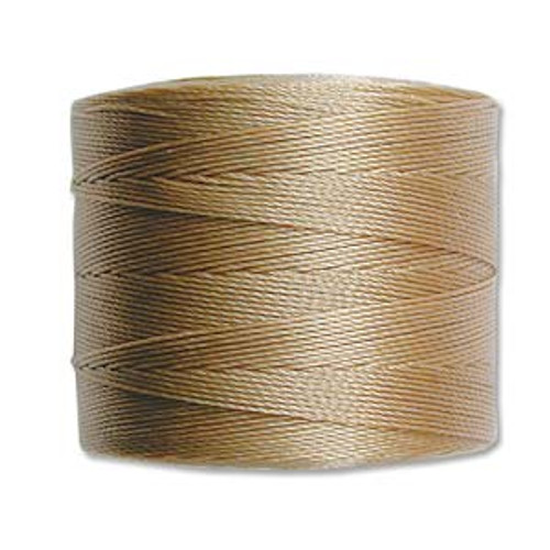S-Lon Bead Cord, Sand  (TEX 70, Micro Weight) (262 yd)
