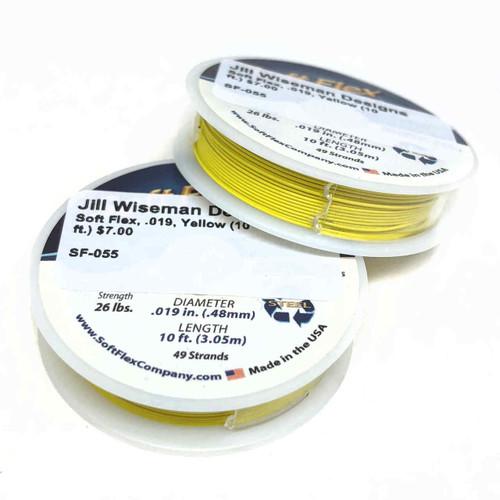 Soft Flex, Yellow, 019 diameter (Medium weight) (10 ft.)