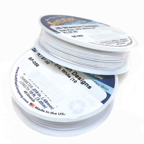 Soft Flex, White, 019 diameter (Medium weight) (10 ft.)