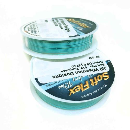 Soft Flex, Turquoise Green, 019 diameter (Medium weight) (10 ft.)