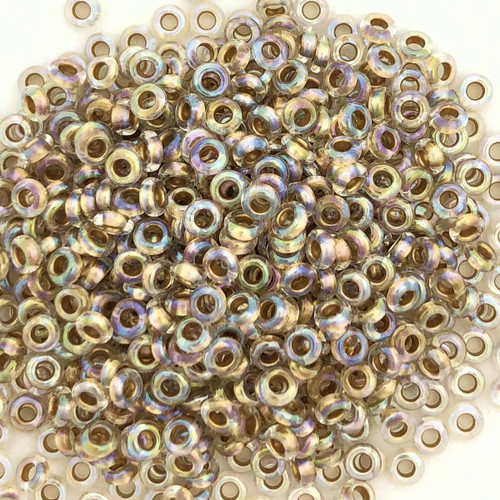Size 8 Demi Rounds, 0994, Gold-Lined Crystal Rainbow (Toho) (10 gr.)