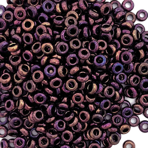 Size 6 Demi Rounds, 0502, Higher Metallic Amethyst (Toho) (10 gr.)