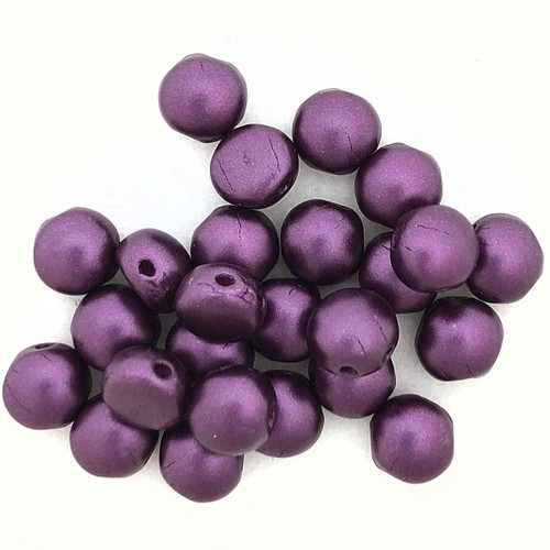 6mm Candy Beads, Pastel Bordeaux (Qty: 25) (CAN-033)