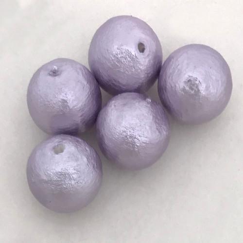 Miyuki Cotton Pearls, Lavender (10mm) (Qty: 5)