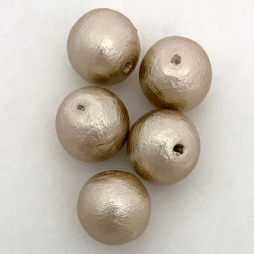 Miyuki Cotton Pearls, Beige (12mm) (Qty: 5)