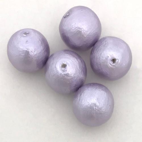 Miyuki Cotton Pearls, Lavender (12mm) (Qty: 5)
