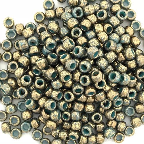 8-1703, Gilded Marble Turquoise (Toho) (28 gr.)