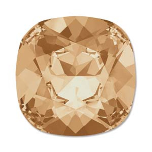 10mm Swarovski Cushion Cut Square  (4470), Crystal Golden Shadow (Qty: 1)
