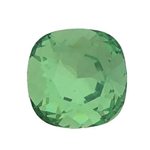 10mm Swarovski Cushion Cut Square  (4470), Fern Green (Qty: 1)