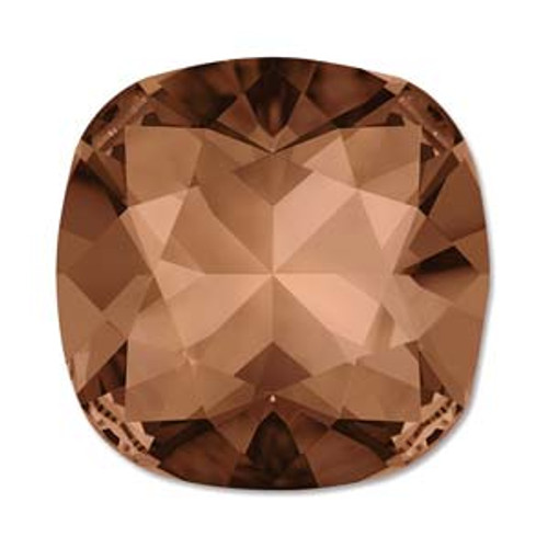 10mm Swarovski Cushion Cut Square  (4470), Smoked Topaz (Qty: 1)