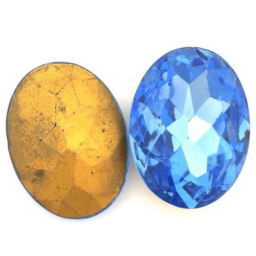 Oval Light Sapphire Fancy Stone, 30 x 22mm (Qty: 1)