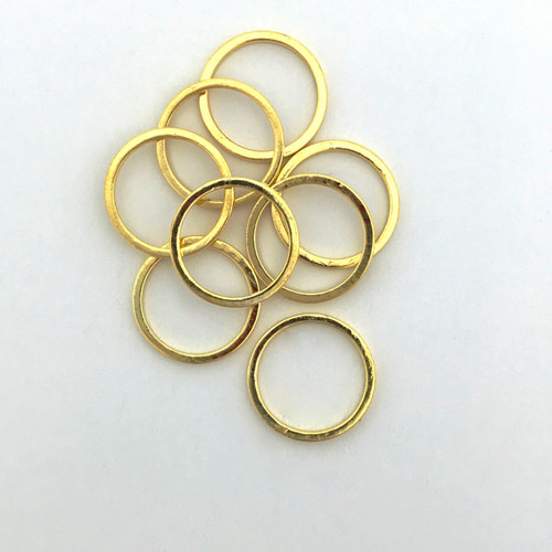 Quick Links, Round, 12mm, Gold Plated (Qty: 8)