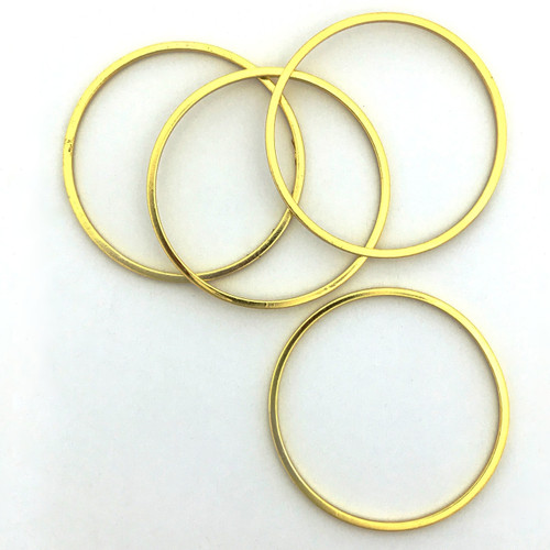 Quick Links, Round, 25mm, Gold Plated (Qty: 4)