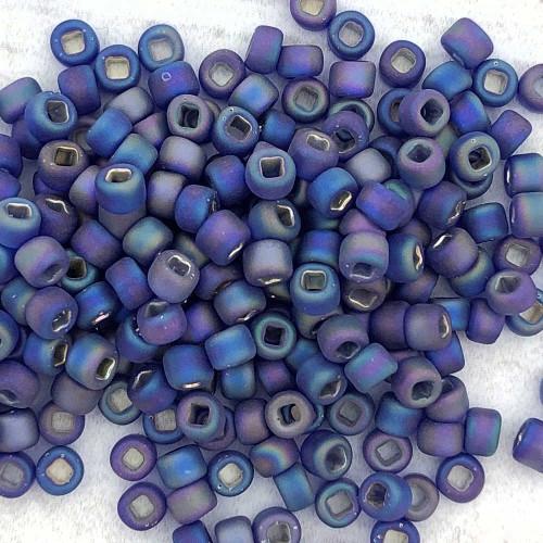 8-F0641, Silver-Lined Matte Cobalt AB(28 gr.)