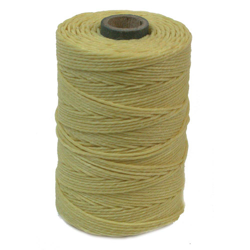 Irish Waxed Linen, 4-Ply, Country Yellow (10 yards)