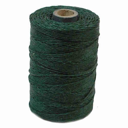 Irish Waxed Linen, 4-Ply, Dark Forest Green (10 yards)