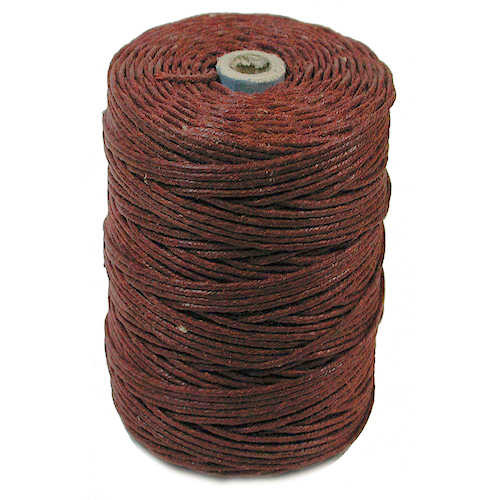 Irish Waxed Linen, 4-Ply, Dark Rust (10 yards)