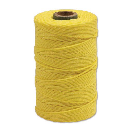 Irish Waxed Linen, 4-Ply, Lemon Yellow (10 yards)