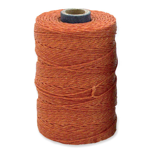 Irish Waxed Linen, 4-Ply, Light Rust (10 yards)