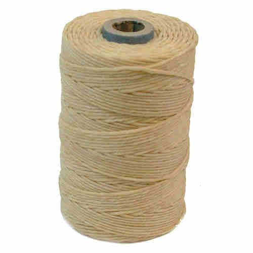 Irish Waxed Linen, 4-Ply, Natural (10 yards)