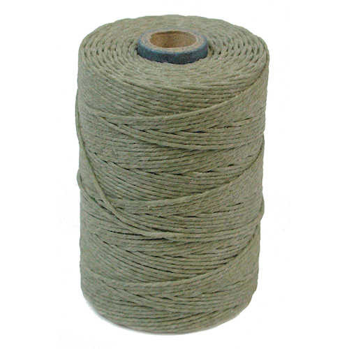 Irish Waxed Linen, 4-Ply, Olive Drab (10 yards)