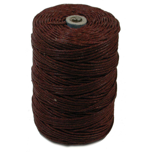 Irish Waxed Linen, 7-Ply, Dark Rust (10 yards)