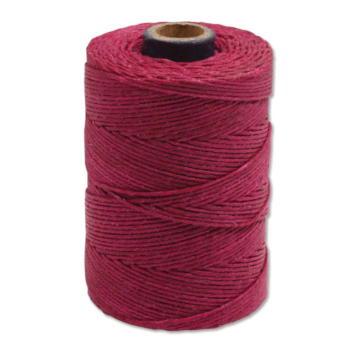 Irish Waxed Linen, 7-Ply, Magenta (10 yards)