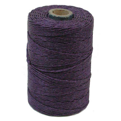 Irish Waxed Linen, 7-Ply, Plum (10 yards)