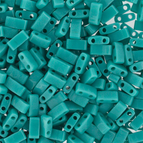 Half Tilas, Opaque Turquoise Green, Color 0412 (10 gr.)