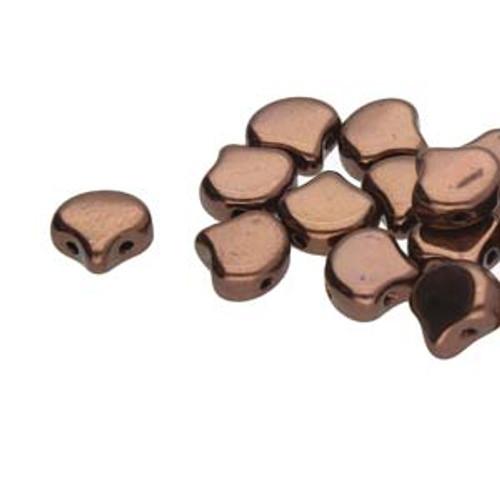 Ginko Beads, Jet Bronze (Qty: 25)