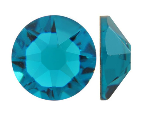 Blue Zircon Swarovski Flat Back Crystals, Article 2028, SS 40, Non-HotFix (Qty: 12)