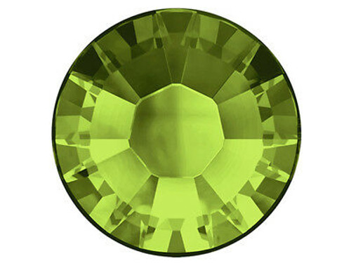 Olivine Swarovski Flat Back Crystals, Article 2028, SS 40, Non-HotFix (Qty: 12)